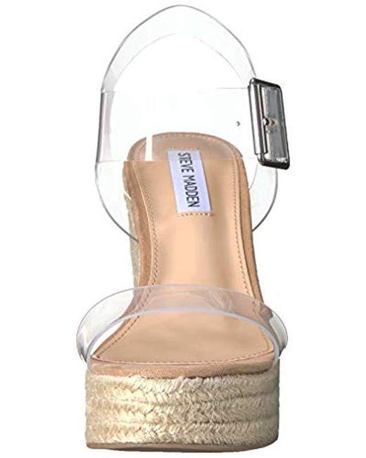068165e0fa5 ... Steve Madden - Multicolor Splash Wedge Sandal - Lyst ...