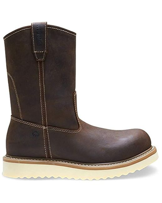 "Wolverine - Brown Loader 10"" Soft Toe Wedge Work Boot for Men - Lyst"