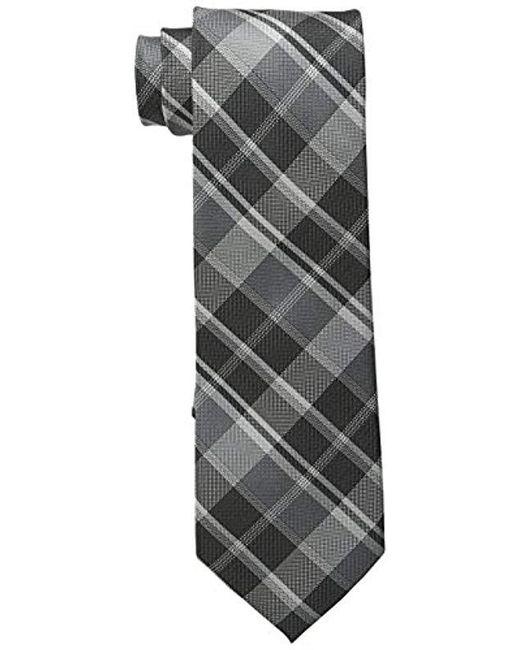 Calvin Klein - Gray Plaid Tie for Men - Lyst