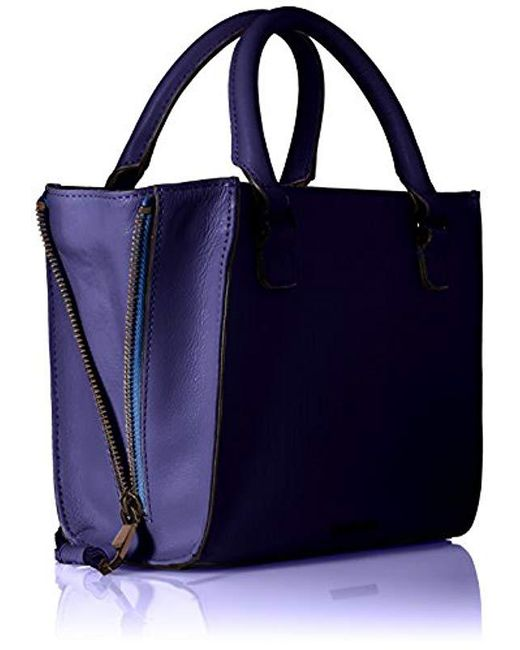 50cb7f44f ... Rebecca Minkoff - Blue Side Zip Mini Regan Tote - Lyst ...