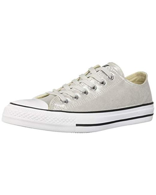 975eb67e6336 Converse - White Unisex Chuck Taylor All Star Shimmer Canvas Low Top Sneaker  - Lyst ...