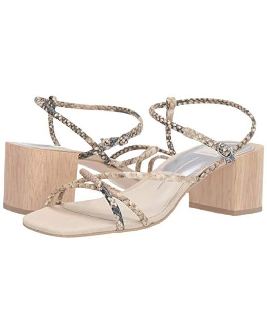 37f613e2c7 Dolce Vita Zayla Heeled Sandal in Natural - Save 1% - Lyst