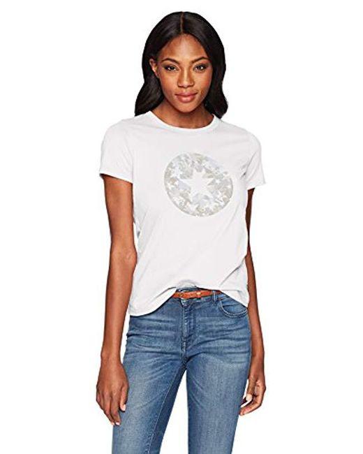 Converse - White Chuck Patch Camo Fill Short Sleeve Crew T-shirt - Lyst