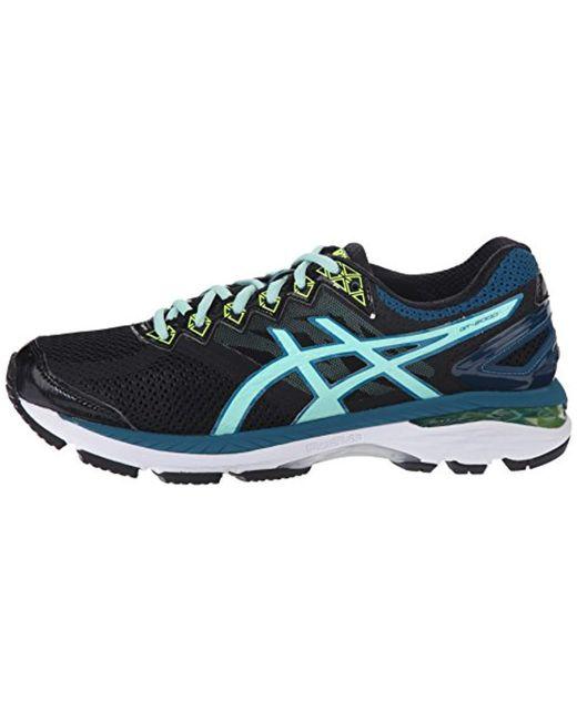 Asics Womens Running Shoes GT 2000 4 D BlackPool BlueFlash