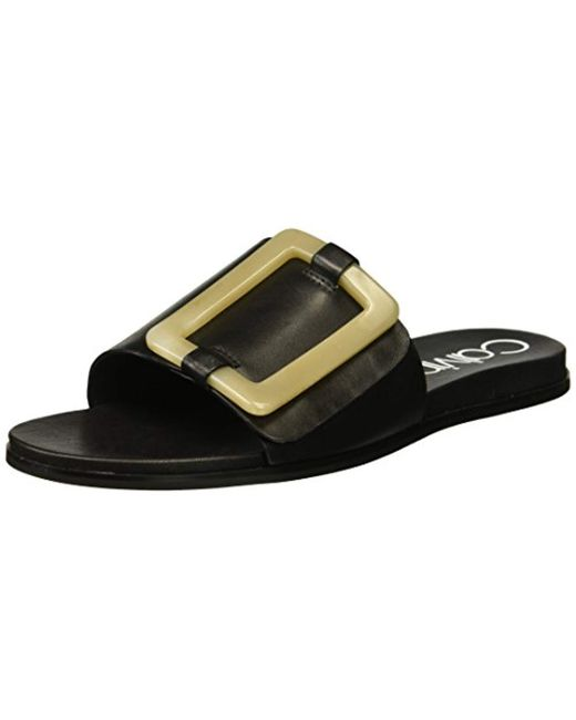 Calvin Klein - Black Patreece Slide Sandal - Lyst