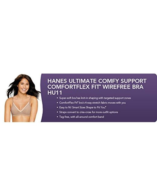 7755a2137 Lyst - Hanes Ultimate Comfy Support Wirefree in Natural - Save 50%
