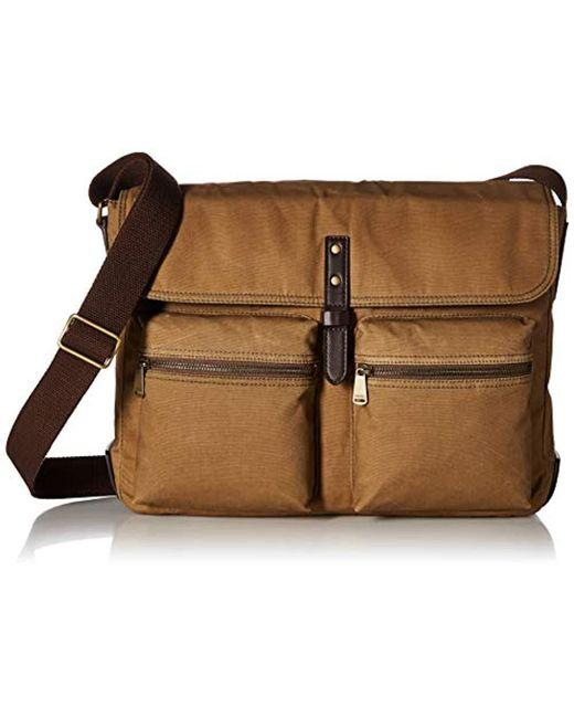 Fossil - Buckner Laptop Messenger Bag, Brown, One Size for Men - Lyst