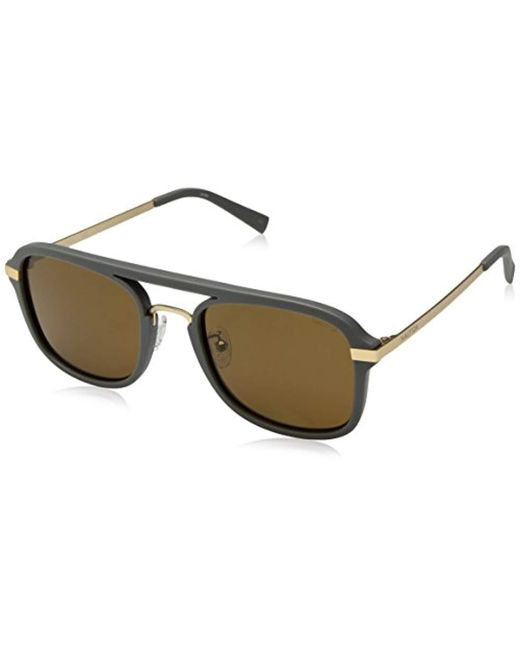 5dad8baa54 Nautica - Gray N4628sp Polarized Aviator Sunglasses Matte Grey 56 Mm for Men  - Lyst ...