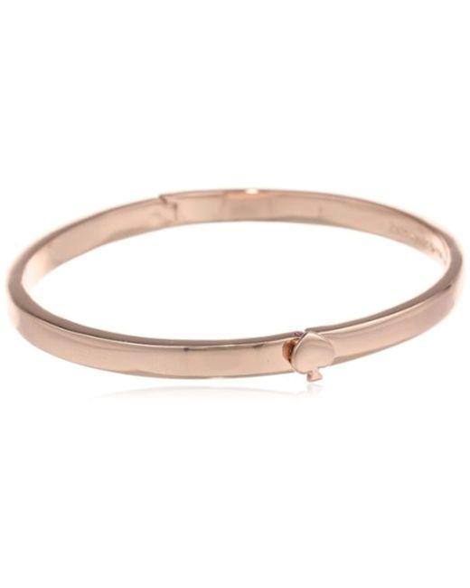 Kate Spade - Metallic Spade Bangles Thin Hinge Bangle Bracelet - Lyst