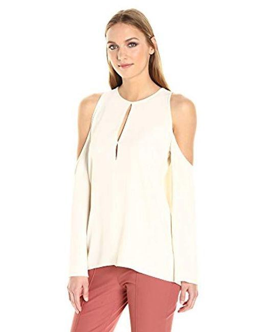 Theory - White Sarver.rosina Crepe Top - Lyst