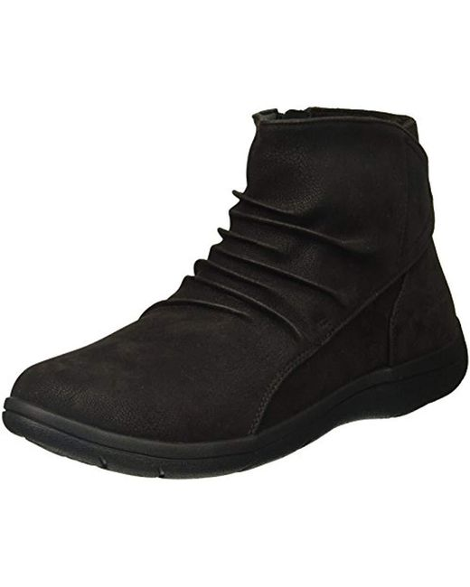 Skechers - Black Lite Step-tricky Ankle Bootie - Lyst