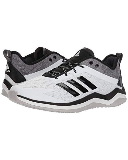 buy popular 77504 723cb ... 7.5 Adidas - Speed Trainer 4 Baseball Shoe, Crystal White black carbon,  ...