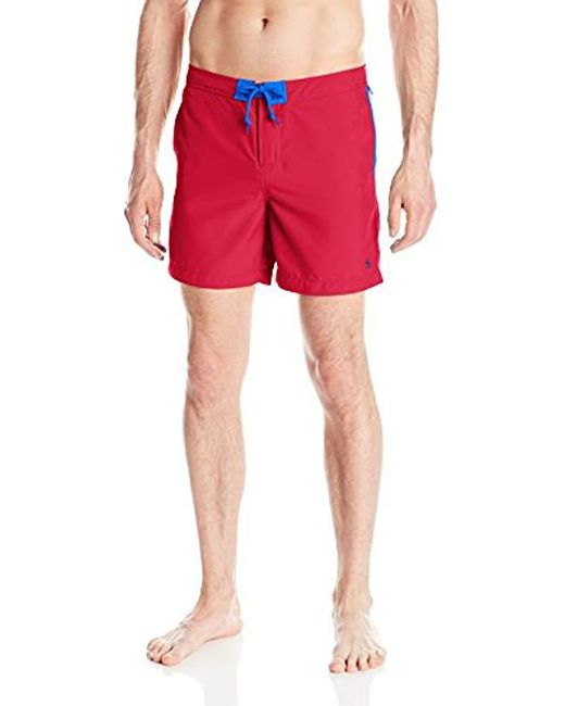 Original Penguin - Red Mearl Volley Swim Trunk for Men - Lyst
