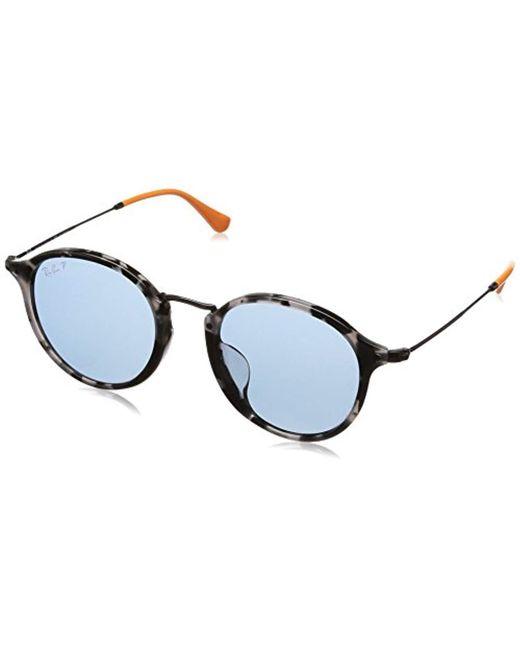aee5f362b36 Ray-Ban - Gray 0rb2447f Polarized Iridium Round Sunglasses Grey Havana 49.2  Mm for Men ...