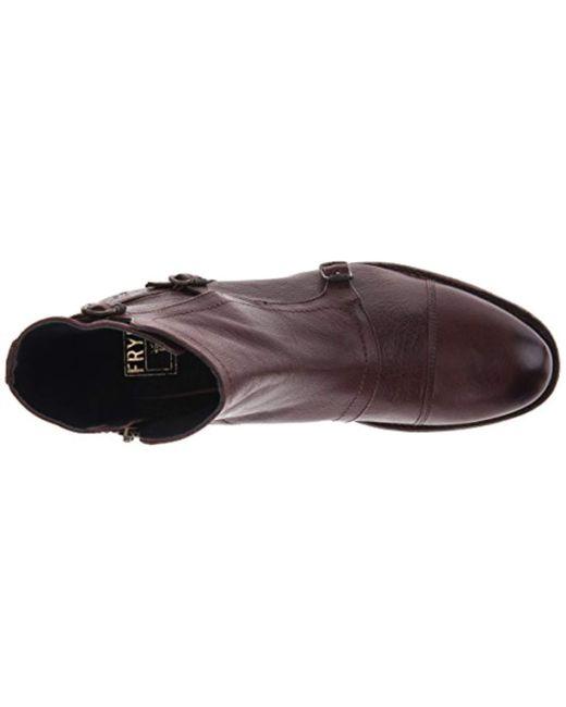 Frye Leather Ethan Triple Monk Boot In Black For Men