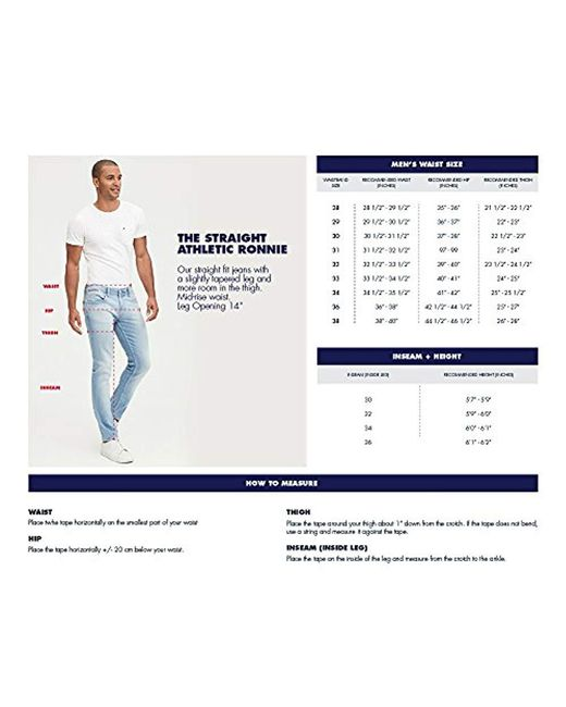 f572d945 ... Tommy Hilfiger - Blue Original Ronnie Straight Athletic Fit Jeans for  Men - Lyst
