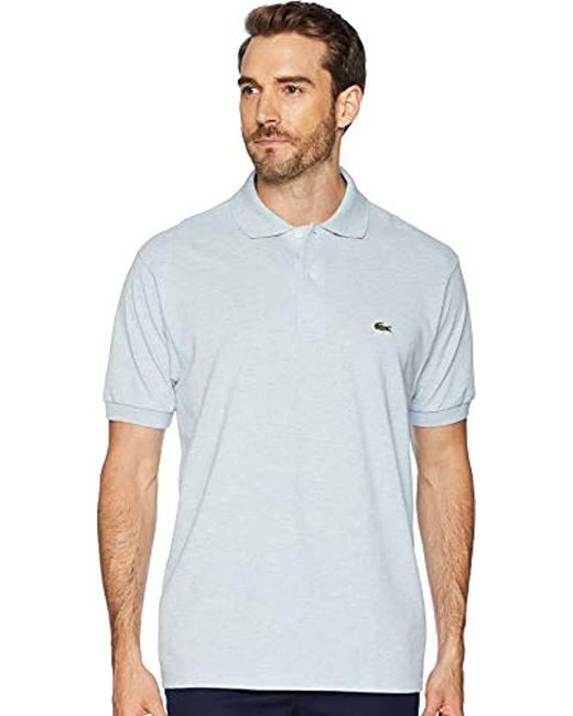 164ee3aee Lyst - Lacoste Short Sleeve Pique Classic Fit Chine Polo Shirt ...