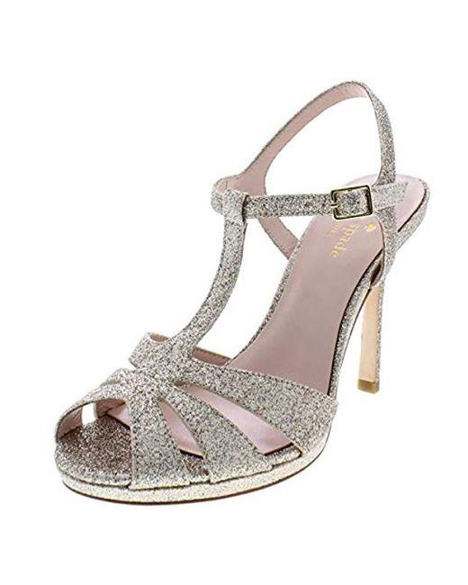 Kate Spade - Metallic Feodora Platform Dress Sandal - Lyst