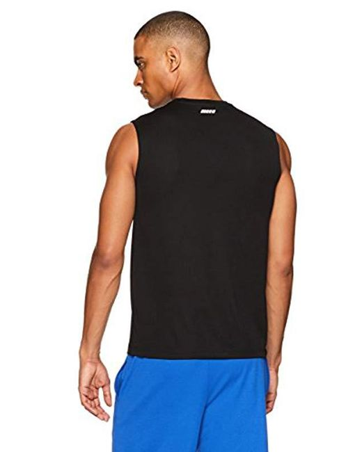 a0420cb3 ... Amazon Essentials - Black 2-pack Performance Muscle T-shirts for Men -  Lyst ...