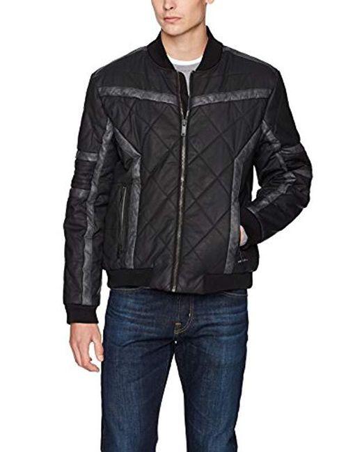 Calvin Klein - Gray Jeans Gasoline Racer Puffer Jacket for Men - Lyst