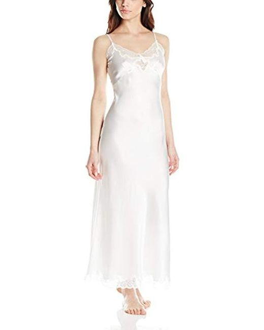 Only Hearts - White Silk Charmeuse Long Slip - Lyst