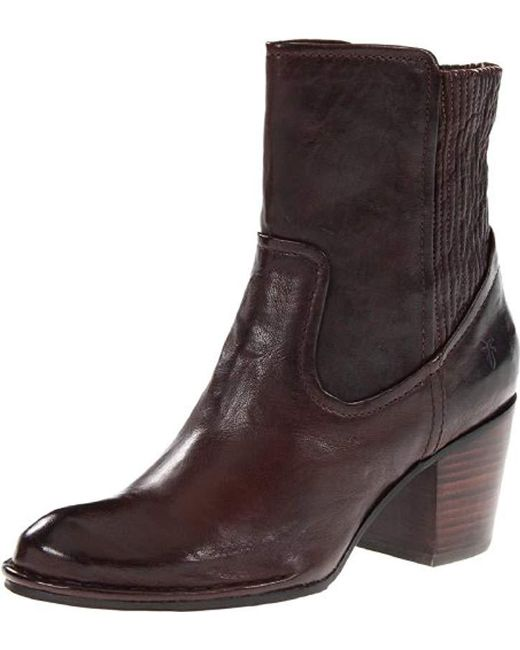Frye - Brown Lucinda Scrunch Short Boot - Lyst