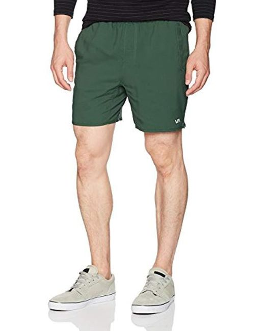 RVCA - Green Yogger Short for Men - Lyst