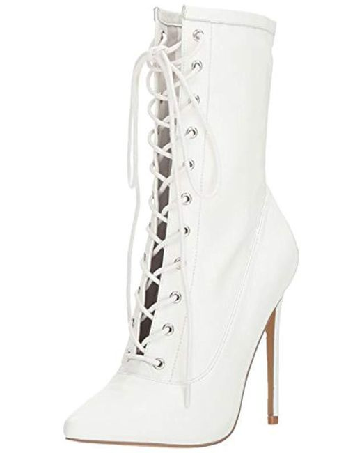 13be17ee9cb Lyst - Steve Madden Satisfied Fashion Boot in White - Save 4%