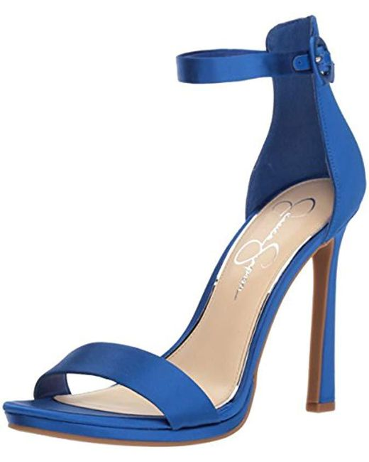 78af068b67 Lyst - Jessica Simpson Plemy Heeled Sandal in Blue - Save ...