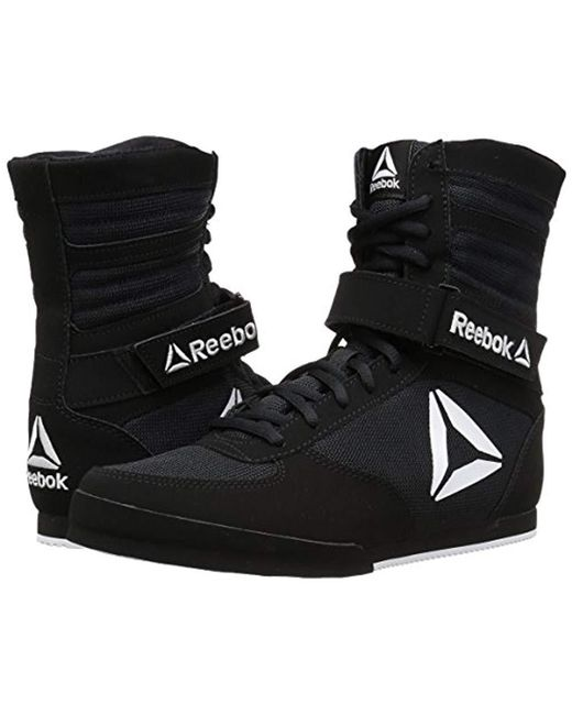 ad021385f4e Lyst - Reebok Boot Boxing Shoe in Black for Men - Save 36%