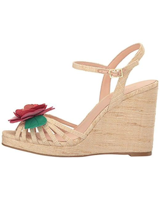 52590903fe Lyst - Kate Spade Beekman Espadrille Wedge Sandal in Natural - Save 12%
