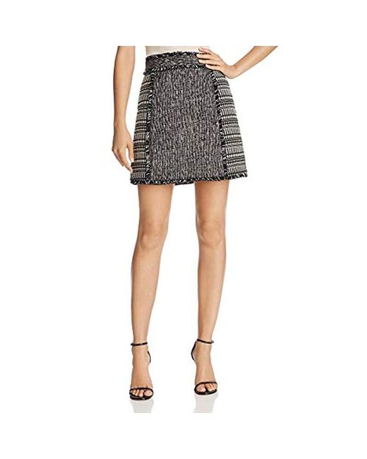 French Connection - Black Pixel Mix Cotton Skirt - Lyst