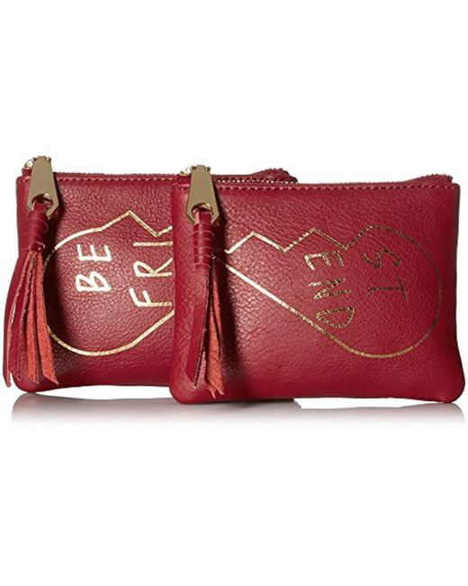 Rebecca Minkoff - Red Best Friends Pouch Set - Lyst
