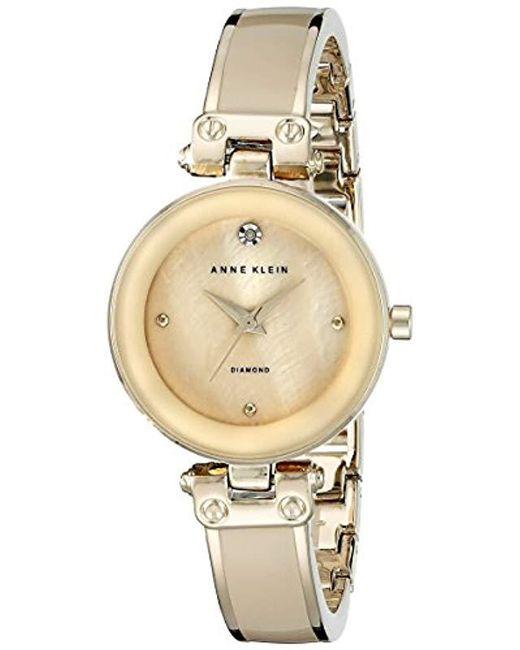 393457492 Anne Klein - Metallic Ak/1492mprg Swarovski Crystal Accented Rose Gold-tone  Bracelet Watch ...