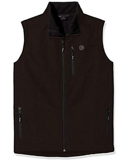 Wrangler - Black Big Tall Water Repellent Trail Vest for Men - Lyst