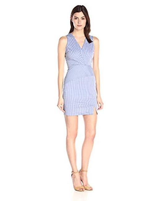 NYDJ - Blue Ophelia Silky Cotton Gingham Dress With Fit Solution - Lyst