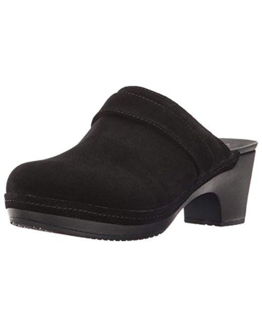 Crocs™ - Black Sarah Suede Clog Mule - Lyst