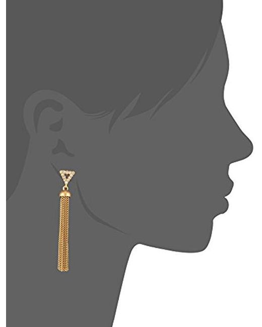 Rebecca Minkoff - Metallic S Triangle Tassel Earrings - Lyst