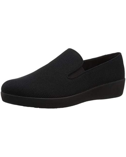 Fitflop - Black Superskate Uberknit Loafers - Lyst