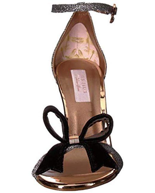 0e093218e92006 ... Ted Baker - Multicolor Bowdalo Heeled Sandal - Lyst ...