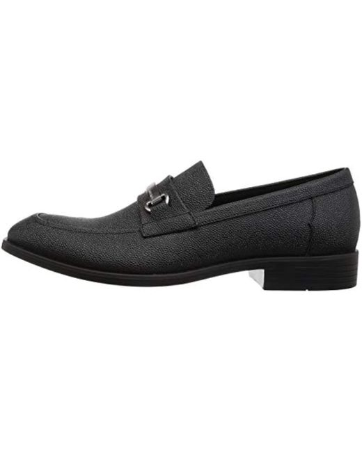 1fab1c676bb ... Calvin Klein - Black Craig Scotch Grain Leather Loafer for Men - Lyst  ...