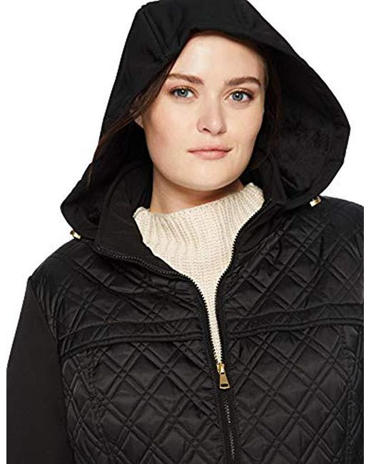 3675dfd0108 ... Via Spiga - Black Plus-size Lightweight Quilted Jacket With Side Tabs -  Lyst ...