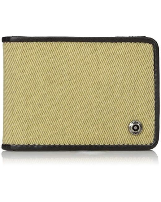 Lee Jeans - Multicolor Canvas And Leather Slimfold Rfid Blocking Wallet for Men - Lyst