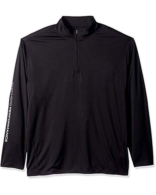 Skechers - Go Dri Ultra Upf 50 Long Sleeve 1/4 Zip Pullover, Bold Black, M for Men - Lyst