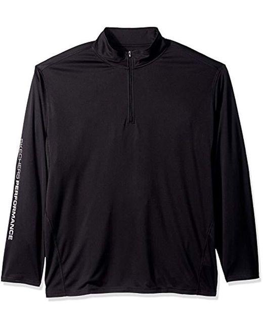 Skechers - Golf Go Dri Ultra Upf 50 Long Sleeve 1/4 Zip Pullover,bold Black,s for Men - Lyst