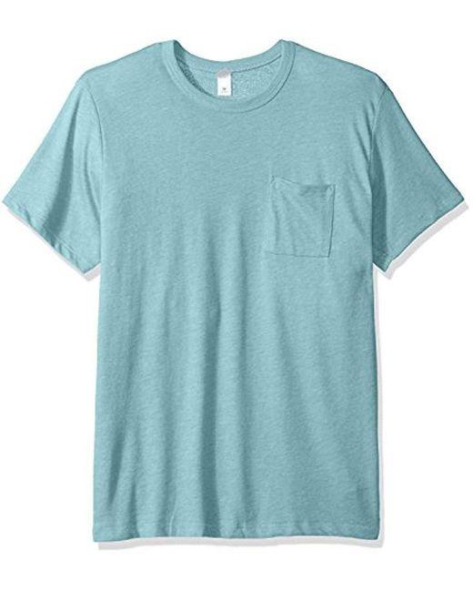 Alternative Apparel - Blue Keeper Pocket Tee for Men - Lyst