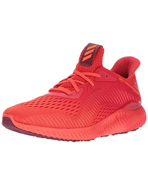 d1f82b7cf96a6 Lyst - adidas Alphabounce Em M Running Shoe in Red for Men - Save 19%