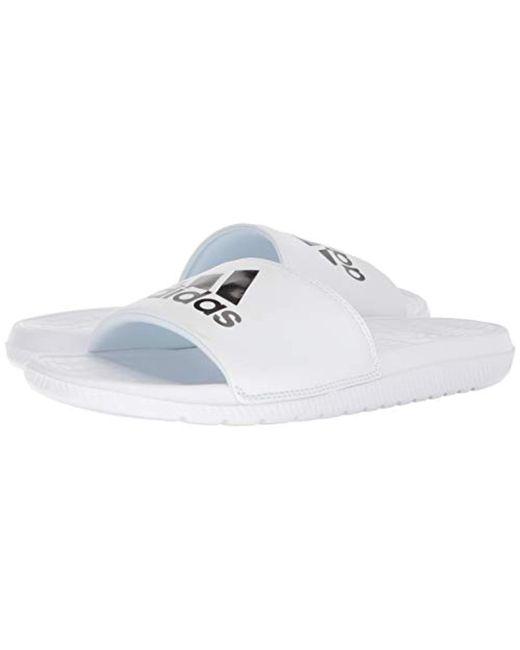 8453d0482ff8 ... Adidas - White Voloomix Slide Sandal for Men - Lyst ...