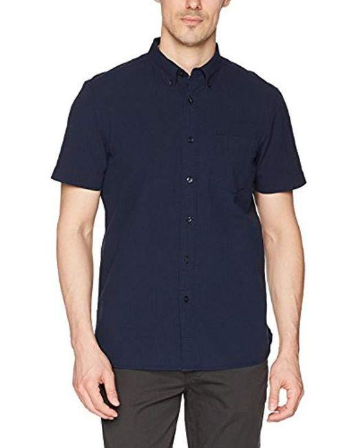 Perry Ellis - Blue Long Sleeve Seersucker Shirt for Men - Lyst