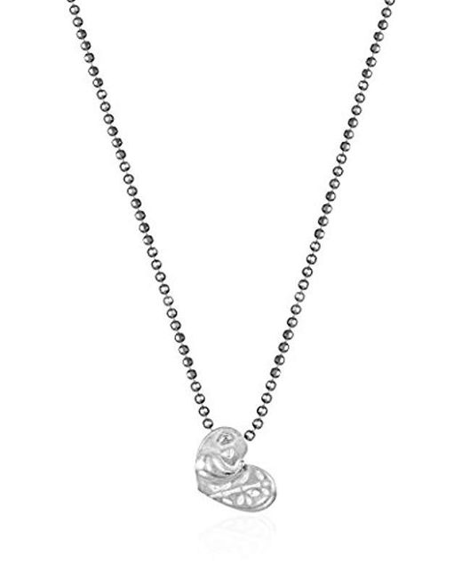 "Alex Woo - Metallic Little Activist Sterling Silver Love Panda Pendant Necklace, 16"" - Lyst"
